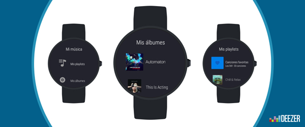 Deezer llega a Android Wear